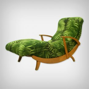Beech & Palm Fabric Chaise Longue