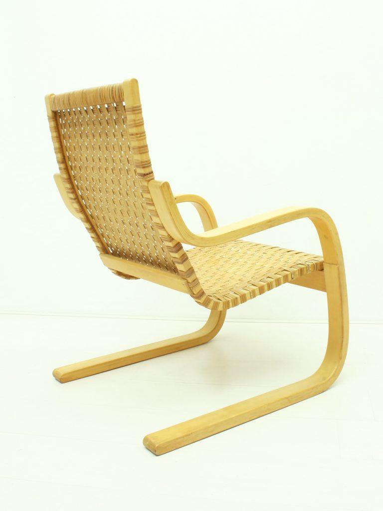 Stupendous Alvar Aalto Birch Cane Webbing Cantilever Armchair Pabps2019 Chair Design Images Pabps2019Com