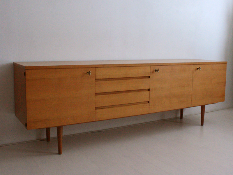 Cherry Wood Buffet Table ~ Unknown cherry wood sideboard model good old vintage