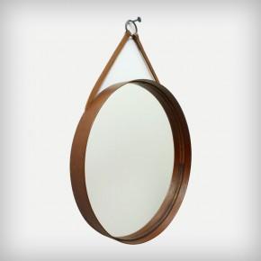 Teak Round Mirror • Model 102