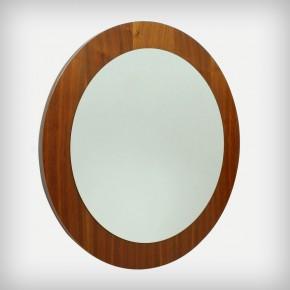 Round Walnut Mirror