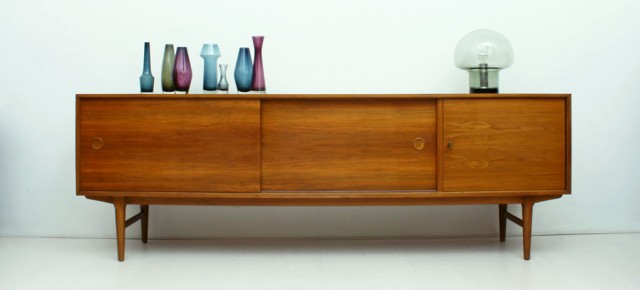 Walnut Sideboard And Room Divider