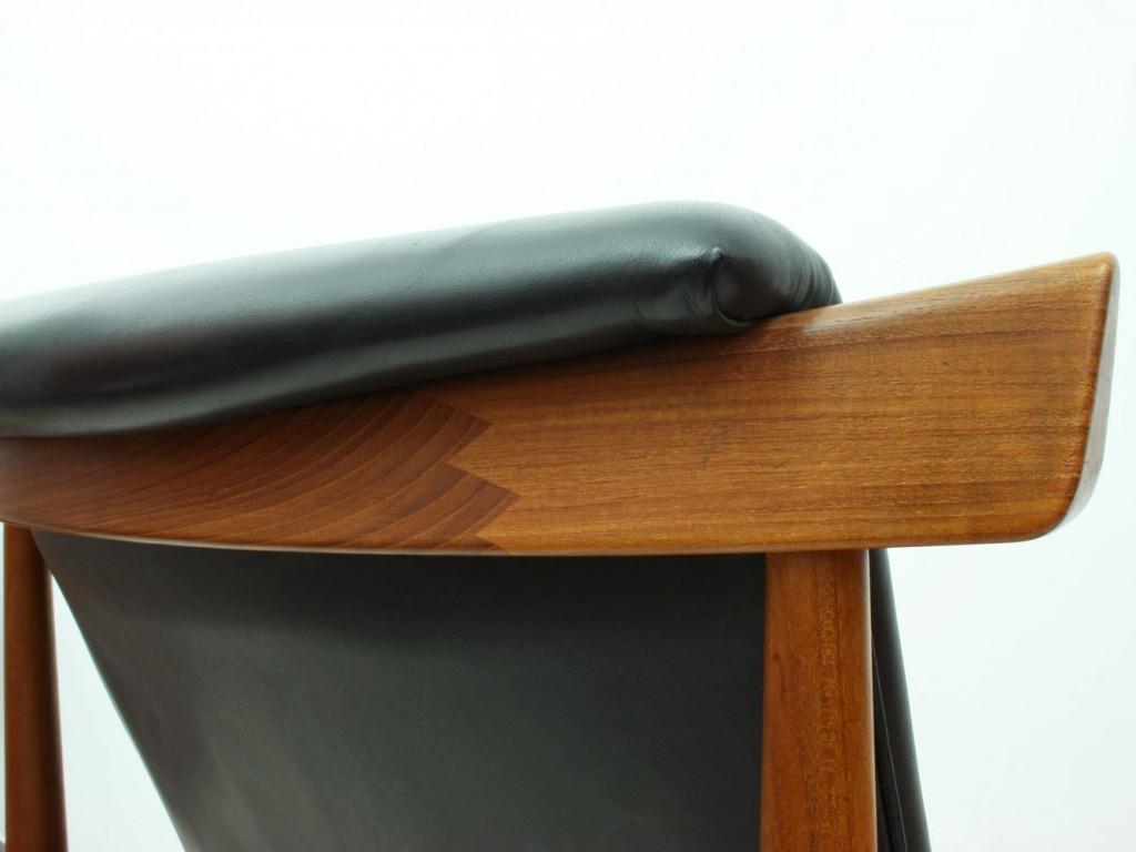 finn juhl teak leather lounge chair model 152 bwana good old