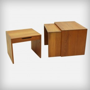 Solid Teak Nesting Table Set