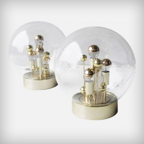 Pair Of Doria Gold Globe Table Or Floor Lights