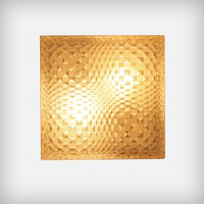 Geometrical Glass Wall Or Ceiling Lamp