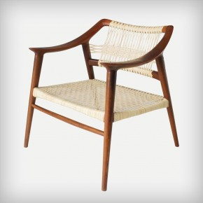 Teak & Cane Easy Chair • Model 56/1 Bambi