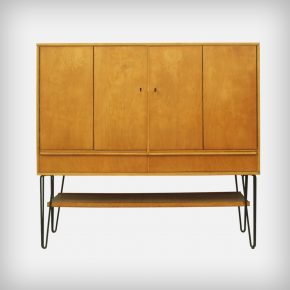 Birch Cabinet With Black Metal Legs • Model CB03