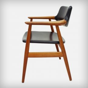 Teak & Skai Armchair • Model GM11