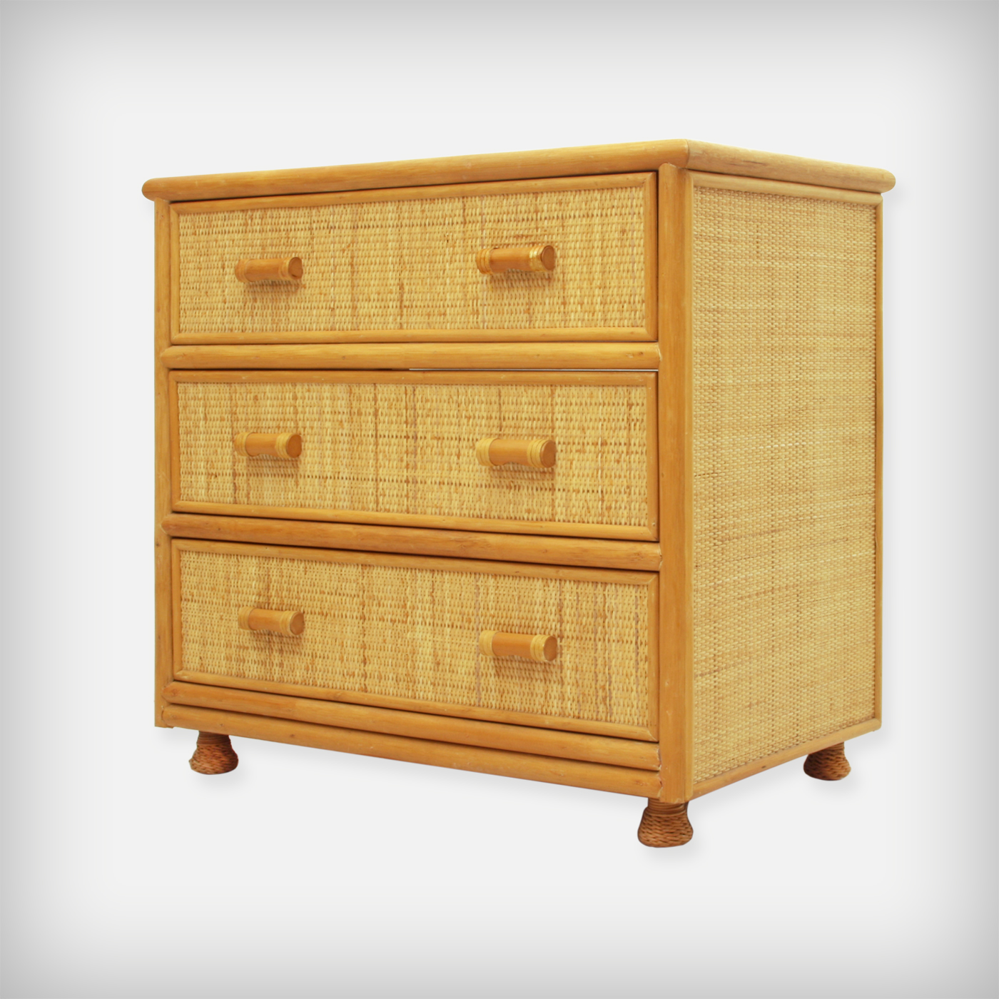 unknown rattan bamboo chest of drawers good old vintage. Black Bedroom Furniture Sets. Home Design Ideas