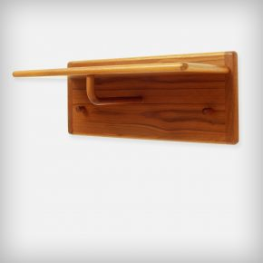Solid Teak Coat And Hat Rack