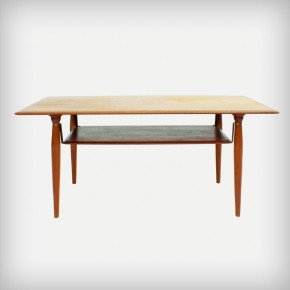 Teak Coffee Table With Brass Details