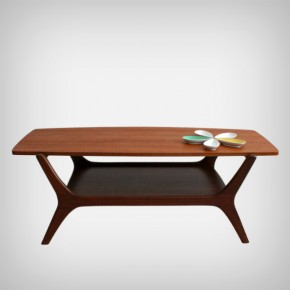 Coffee table with a reversible table top