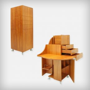 Transformable Cherry Wood Secretary • Model De Cube