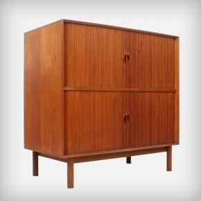 Teak Cabinet With Tambour Doors • Model 302