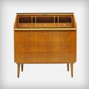 Walnut Cylinder Secretary