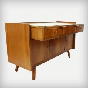 Metamorphic Walnut Desk & Sideboard