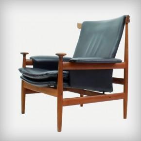Teak & Leather Lounge Chair • Model 152 Bwana