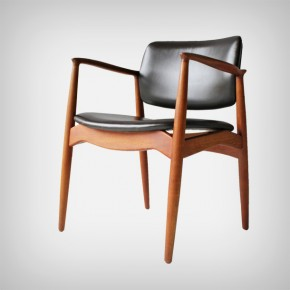 Teak and Leather Armchair
