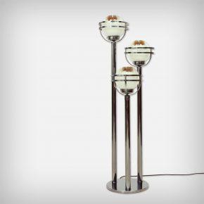 Murano Glass & Chrome Floor Lamp