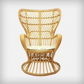Wicker Lounge Chair • Model Conte Biancamano
