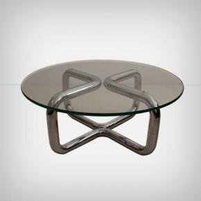 Tubular Chrome Coffee Table