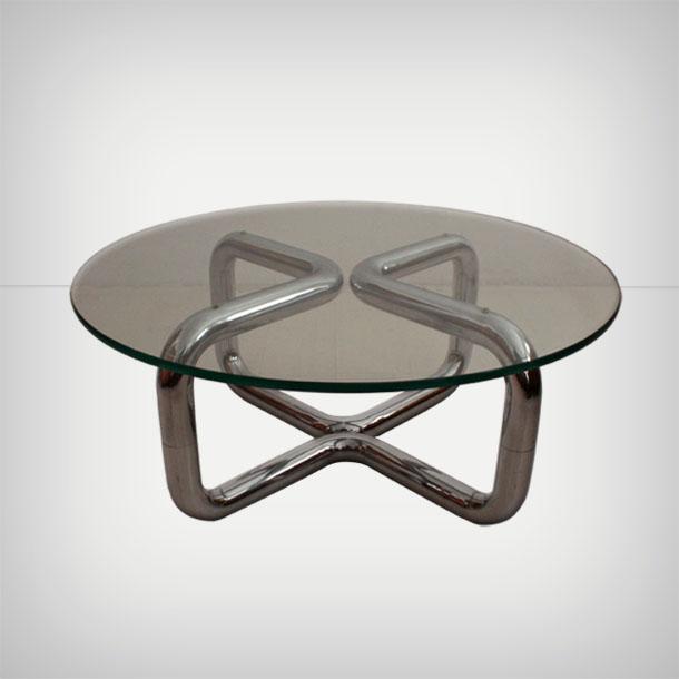 Tubular Chrome Coffee Table: Tubular Chrome Coffee Table • Good Old Vintage