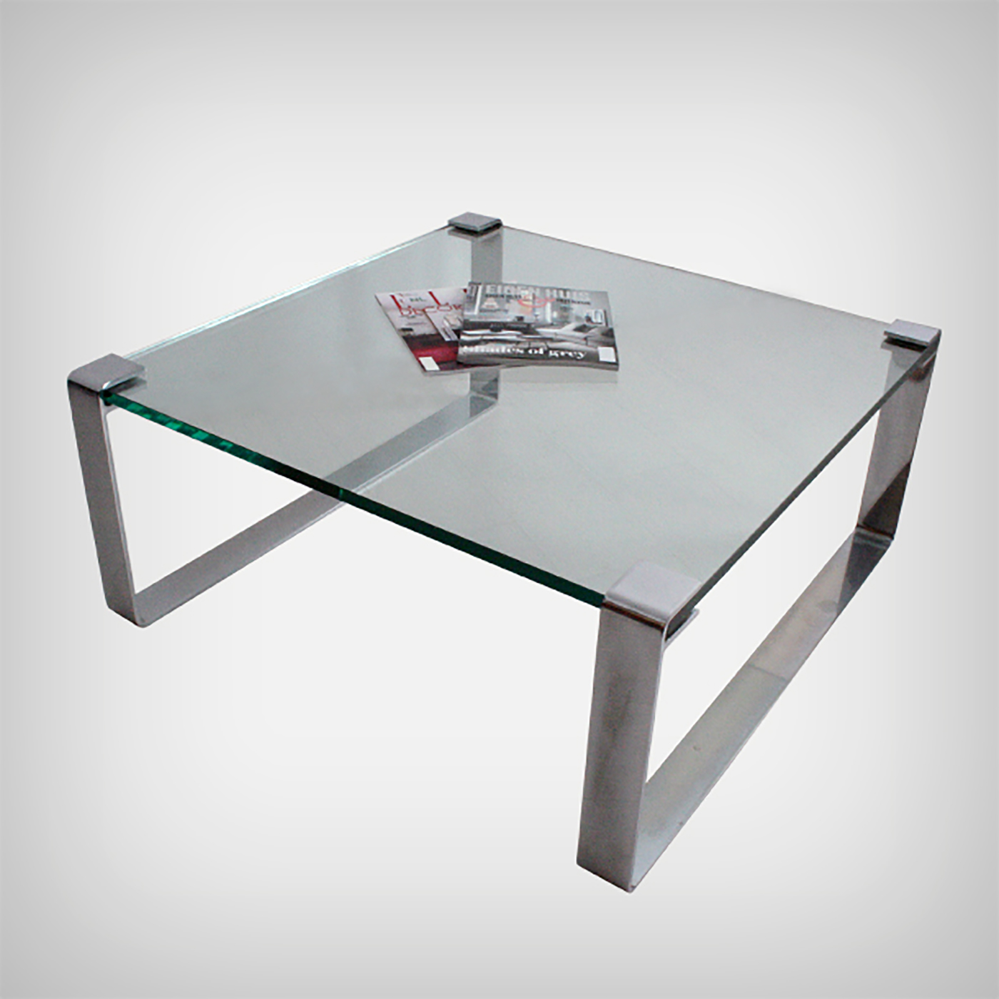Frameless Glass Coffee Table: Chrome And Glass Coffee Table