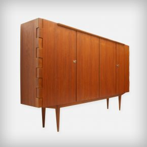 Teak Highboard With Particular Hinge-Joints