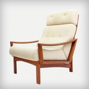 High Back Teak Armchair • Model Vario