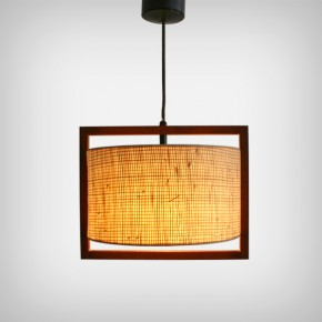 Adjustable Teak Lamp