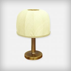 Small Brass & Fabric Desk Lamp