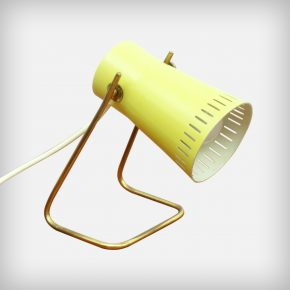 Small Yellow Metal Desk Lamp