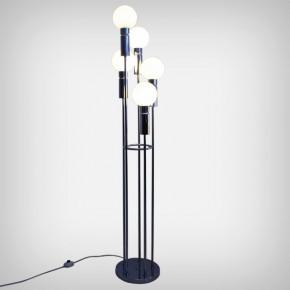 Opaline & Chrome Floor Lamp