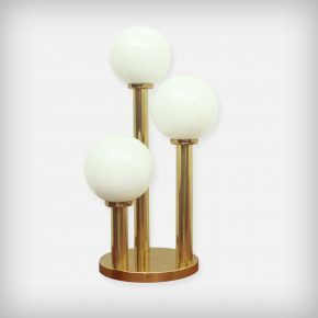 Opaline & Brass Table Lamp