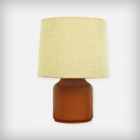 Small Solid Teak Desk Lamp
