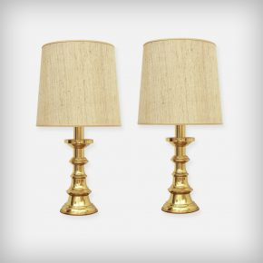 Set Of 2 Huge Brass Desk Lamps