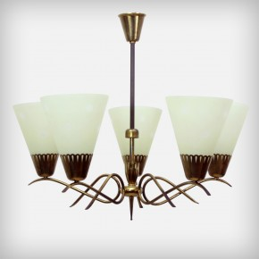 5 Armed Chandelier With Star Pattern