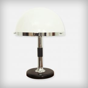Chrome, Wood & Perpex Desk Lamp
