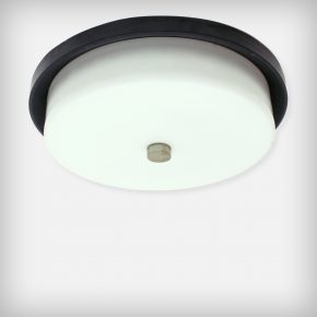 Opal Glass & Aluminium Ceiling Or Wall Lamp