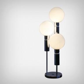 Opaline & Chrome Table Lamp