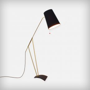 Floor Lamp With An Adjustable Fabric Shade