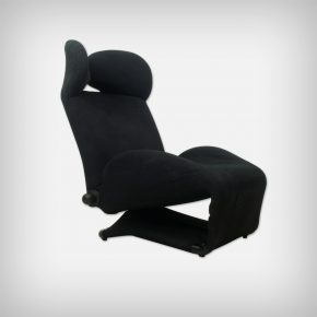 Black Wink Lounge Chair With Mickey Mouse Ears