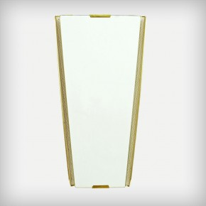 Perforated Metal Mirror With Brass Details