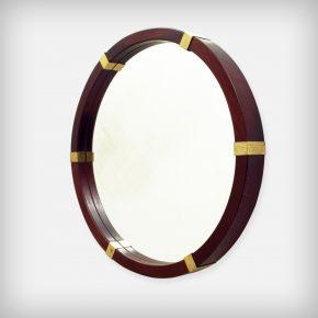 Mahogany & Brass Mirror