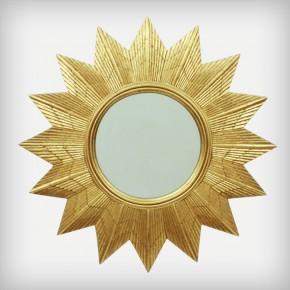 Golden Starburst Wall Mirror