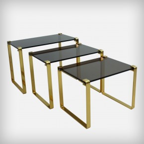 Gold and Glass Nesting Tables • Klassik 1022
