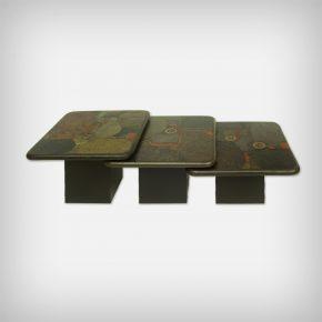 Set Of 3 Brutalist Nesting Tables