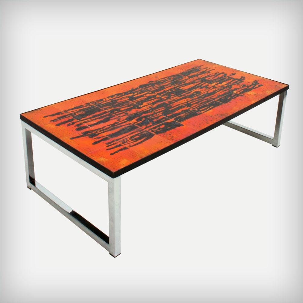 Juliette belarti ceramic chrome coffee table good for Orange coffee table