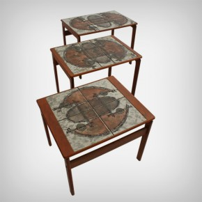 Set Of 3 Teak Nesting Tables